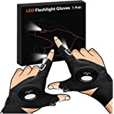 LED Flashlight Gloves, Upgrade LED Light Gloves Men, Women, Mechanics & Electrician, Tactical Hands Free Gadgets for Fishing,
