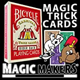 Carnival Trick Cards - Includes Teaching DVD and Special Bicycle Deck Magic Trick Cards by Magic Makers