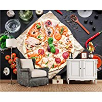 Xbwy カスタムピザトマト食品写真の壁紙リビングルームバーKtv背景リビングルームキッチン3D壁画-280X200Cm