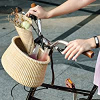 Nantucket Lightship Classic Hand Before The, Bicycle Basket Copper Leather Straps and Buckle Bicycle with Basket by Teng Tian Basket