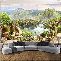 Xbwy 写真の壁紙3Dガーデンマウンテンレイク風景壁画リビングルームの寝室の家の装飾-200X140Cm