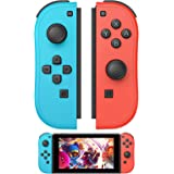 Joy Con Controller Alternatives for Switch Joycon, R/L Joy Pad Remote Controllers with Wake-up Function and 6-Axis Gyro (Blue