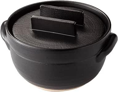メイダイ 電子レンジも直火もOK 「おひつ」にもなる 美味しく炊ける「釜戸炊飯器」 1合~3合 ブラック
