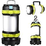 LED Camping Lantern, Rechargeable Portable Lantern Flashlight, 6 Modes, 3600mAh Power Bank, Two Way Hook of Hanging, Perfect