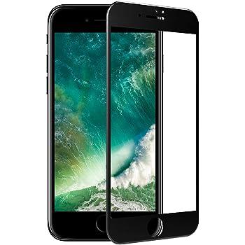 TC JOY iPhone7 強化ガラス保護フィルム 3D曲面加工 全面液晶保護 日本製素材 ブラック