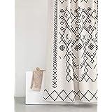 YoKii Boho Fabric Shower Curtain, Fabric, Moroccan Inspired, 72 x 72