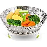 Steamer rack, stainless steel folding steamer, multi-function steamer insert, suitable for vegetable steaming