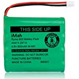 iMah Rechargeable Ni-MH AAA Size 4.8V 800mAh Battery 29580-10 29270-10 Compatible with Summer Infant Wide View 2.0 Baby Video