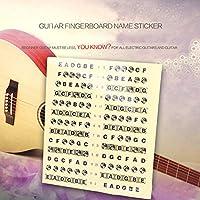 Beautyrain フォーファー ギターベースフレットボード ギターネックフレットボード 地図フレットに注意してください。 ステッカーLables デカールは、こちらをご覧ください 指アクセサリー