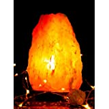 [1-2Kg] Himalayan Natural Rock Salt Lamps with Dimmer Switch. Natural Ionizer. Pyramid, Cylinder, Globe, Fire Bowl and Natura