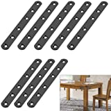 Sumnacon 6 Inch Stainless Steel Flat Plate - Heavy Duty Mending Plate Straight Corner Brace Brackets Connector Furniture Repa