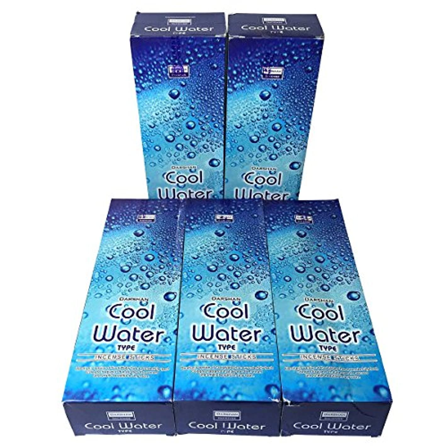 蚊ボット抵抗力があるクールウォーター香スティック 5BOX(30箱)/DARSHAN COOL WATER/ インド香 / 送料無料 [並行輸入品]