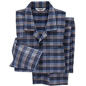 (グンゼ)GUNZE メンズパジャマ (綿100%) 長袖長パンツ 先染ネル起毛 SF4477 59 ブルー LL