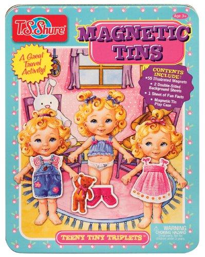[해외]T.S. Shure Teeny Tiny Triplets Magnetic Tin by T.S. Shure [병행 수입품]/T.S. Shure Teeny Tiny Triplets Magnetic Tin by T.S. Shure [Parallel import goods]