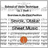 セヴシック (セブシック) 楽譜 バイオリン教本 Op.1 Book 1 1stポジションの練習