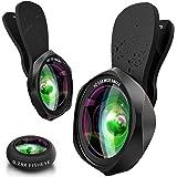 スマホレンズ クリップ式 広角レンズ マクロレンズ 魚眼レンズ 高画質 歪み、ケラレなし スマートフォン用カメラレンズ 接写 セルカレンズ スマホ用カメラレンズセット iphone ipad Android xperia対応 携帯レンズ 3in1(広