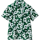 アロハシャツ ハイビスカス (男女兼用) カラー:015グリーン サイズ:3L