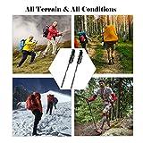 KevenAnna トレッキングポール アルミ製 伸縮式トレッキングステッキ 登山杖 トレッキング用品 高強度 超軽量 登山ステッキ 登山 用品 スティック ウオーキングポール(2本セット)