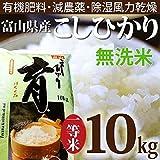 平成29年度産 こしひかり 富山県産 無洗米 10kg カナダ農園 育 はぐくみ