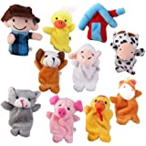 Prettyia Baby Educational Plush Toys Finger Puppets Story Old MacDonald's Farm 10pcs