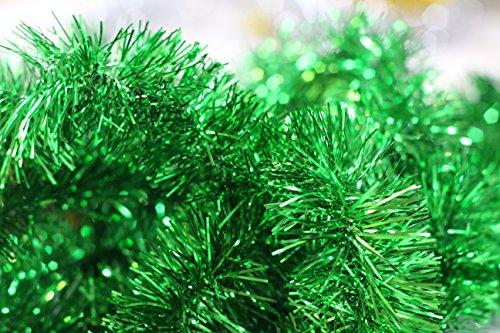 【クリスマスモール 400cm(2m×2本セット/緑)】クリスマス/xmas/モール/パーティー/装飾/アレンジ/デコレーション/用品/天井飾り/グリーン