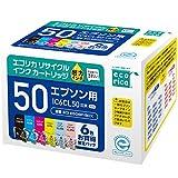 エコリカ リサイクルインクカートリッジ EPSON 6色パック IC6CL50 ECI-E506P/BOX