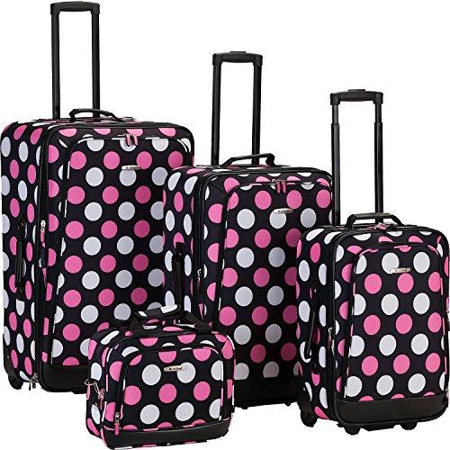 ロックランド バッグ スーツケース Escape 4-Piece Luggage Set MultiPink [並行輸入品]