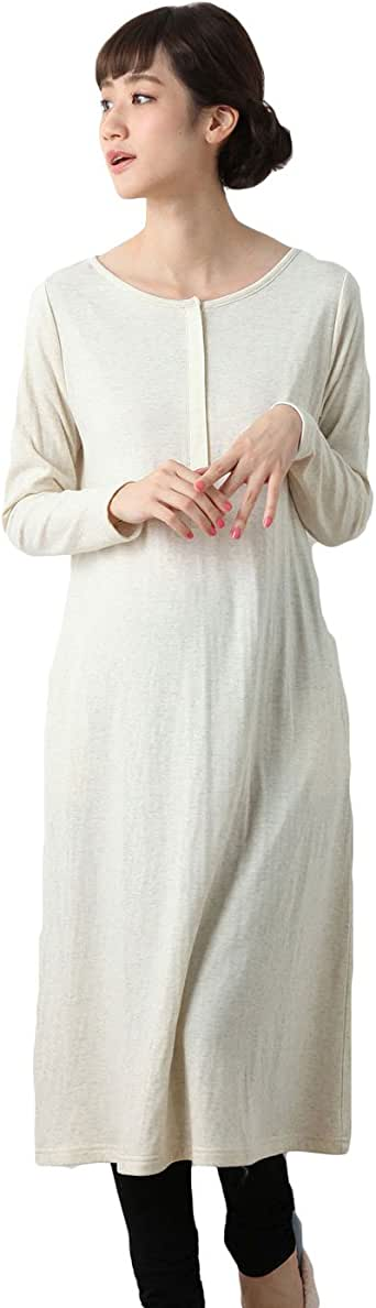 ANGELIEBE エンジェリーベ マタニティ ワンピース 授乳しやすい 接結 ガーゼ ワンピ × 産後 も 使える レギンス パジャマ セット 妊婦服 産前 産後