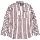ROCAWEAR ロカウェア 長袖シャツ ストライプ ポケット上ネーム刺繍 (RW173W25) 2XL WHITE