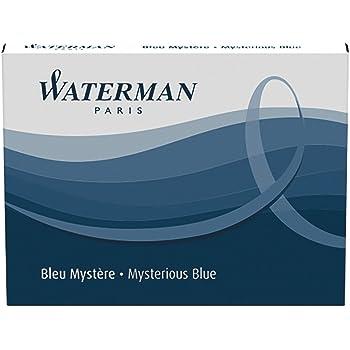 ウォーターマン 詰め替えインク ミステリアスブルー (ブルーブラック) S0110910 1.4ml 正規輸入品