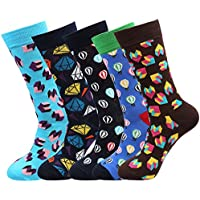 Fantastic Zone Men's 5 Packs Cotton Dress Socks