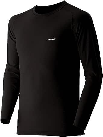 (モンベル)mont-bell ジオラインEXP.ラウンドネックシャツ Men's 1107518 BK ブラック S