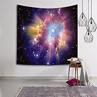 銀河の森の星タペストリー壁吊り宇宙銀河プリントタペストリー装飾,G,150*100CM