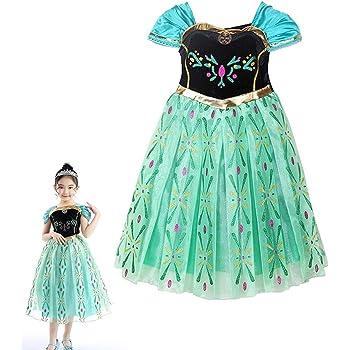 30dcdf529f5bc アナと雪の女王 エルサ 風 プリンセス 子供用 ドレス コスチューム 仮装 衣装 女児用 プレゼント(身長 120cm)