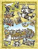 300ピース ジグソーパズル プチ2ライト 猫のダヤン ダヤンの誕生日(16.5x21.5cm)