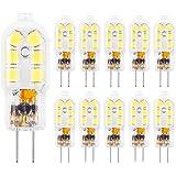 G4 LED Bulbs, HengBo 20 Watts Bi Pin G4 Halogen Bulbs Replacement JC Type Daylight White 6000K 10-Pack
