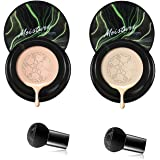 2 Pcs Mushroom Head Air Cushion Cc Cream Natural, Mushroom Head Foundation, Bb Cream, Moisturizing Concealer, Bright Makeup B