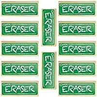 12 Pack Chalk and Dry Erase Board Black Felt Erasers by Imagination Generation