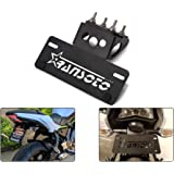 Motorcycle Fender Eliminator license plate mount Fit for Kawasaki Z650 / Ninja 650 2017 2018 2019 (Black)