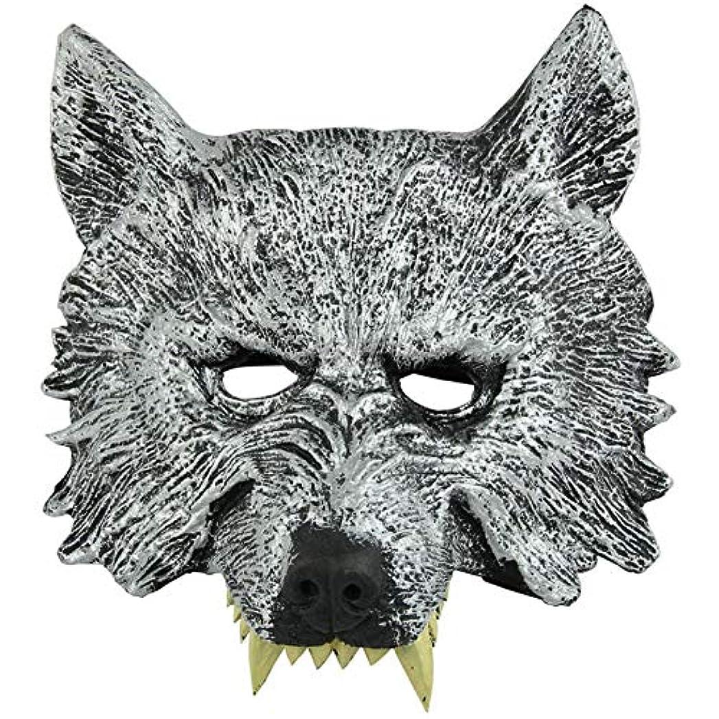 等価月原始的なオオカミヘッドマスク全身小道具ホリデー用品仮面舞踏会マスクハロウィンマスク