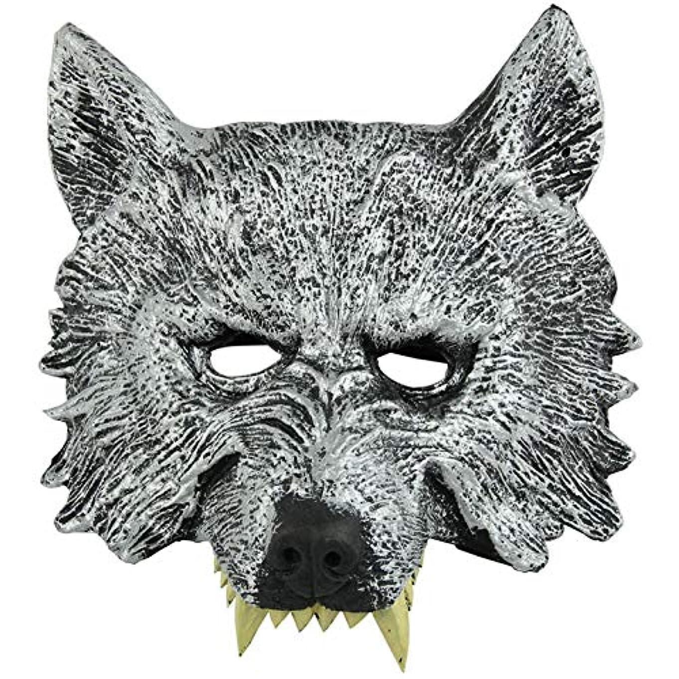 剛性記念碑プラットフォームオオカミヘッドマスク全身小道具ホリデー用品仮面舞踏会マスクハロウィンマスク
