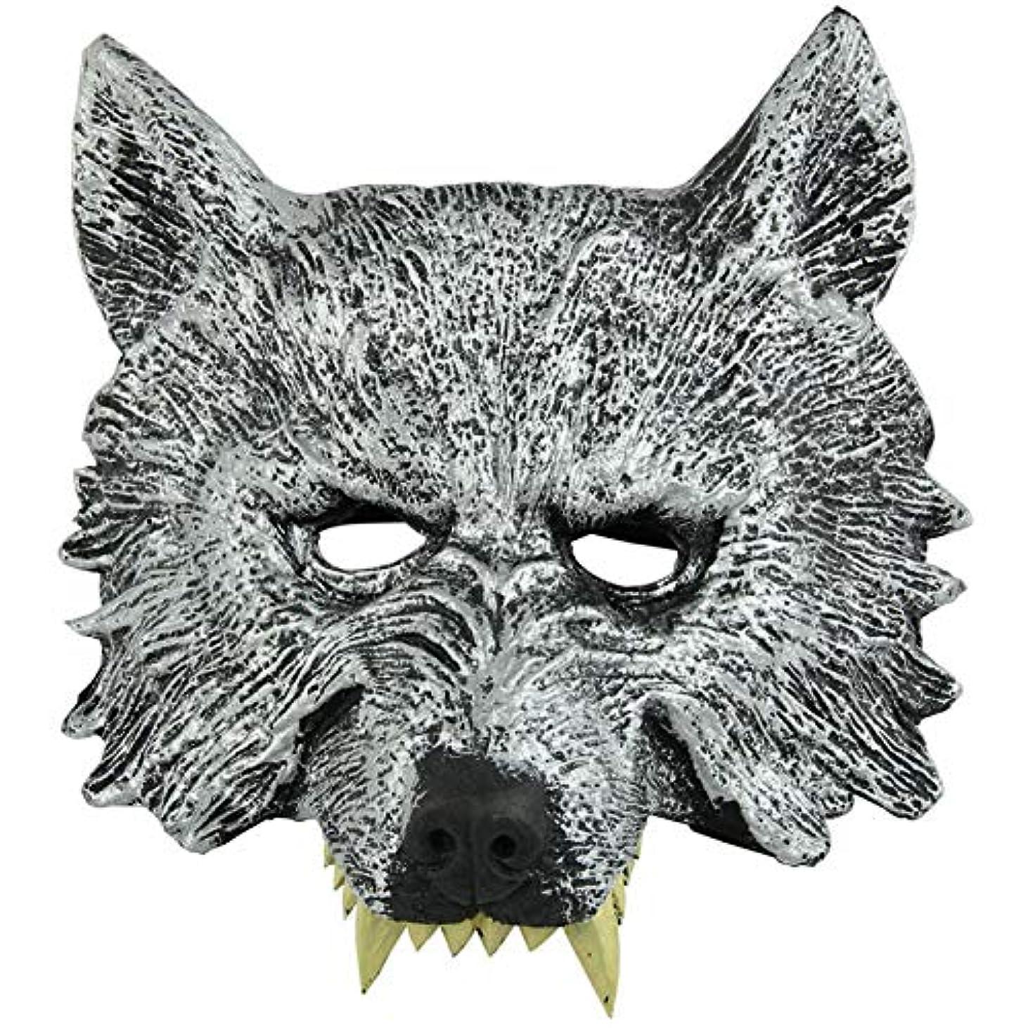 鮮やかな真似る書き込みオオカミヘッドマスク全身小道具ホリデー用品仮面舞踏会マスクハロウィンマスク