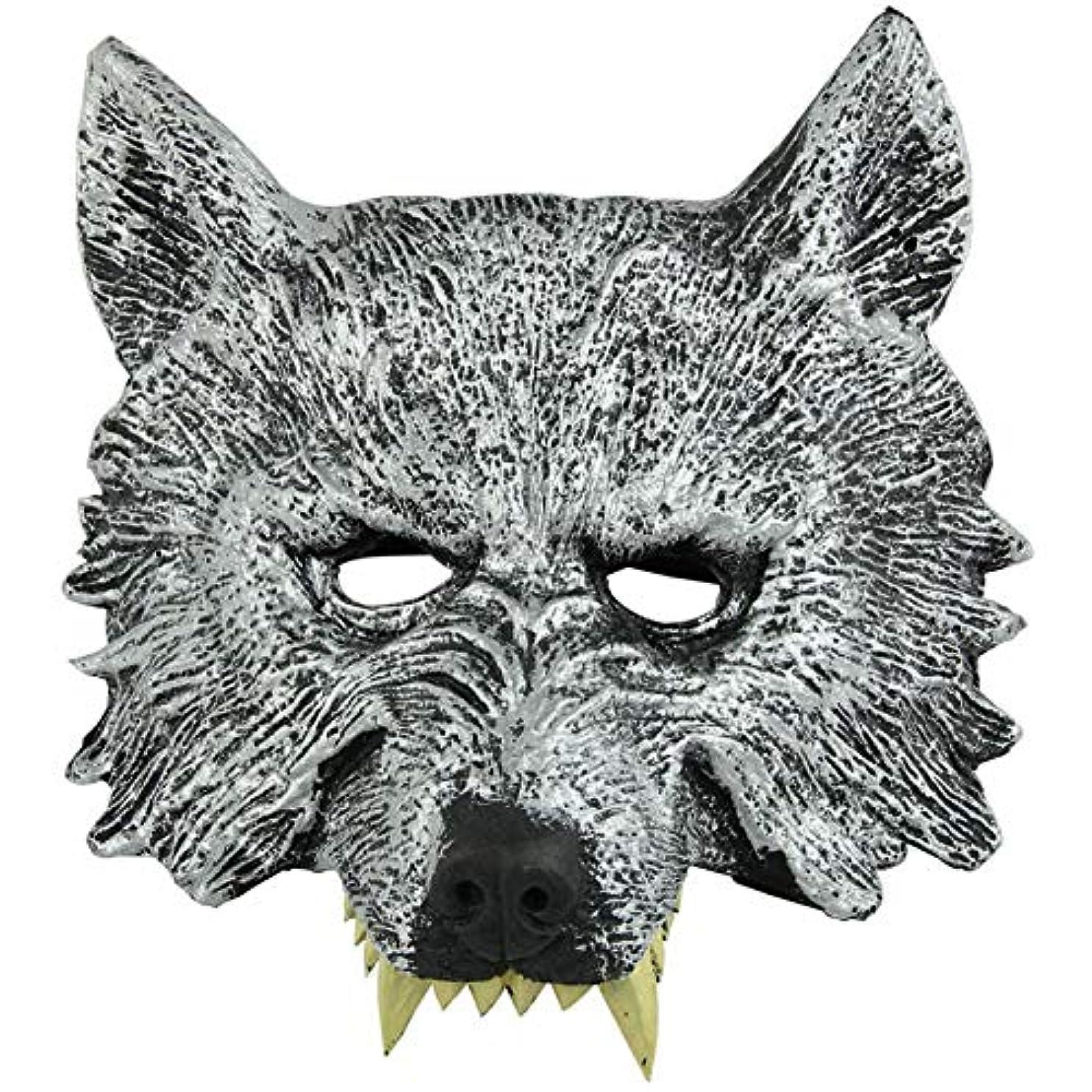 仲間、同僚小説家疑問を超えてオオカミヘッドマスク全身小道具ホリデー用品仮面舞踏会マスクハロウィンマスク