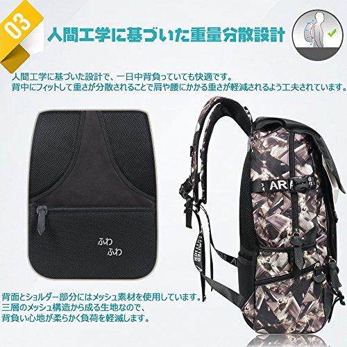 e05df468a8f8 ... [ARIALK] リュック メンズ 【改良版 】 リュックサック ボディバッグ セット USBポート ...