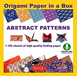 amazon origami paper in a box abstract patterns origami book