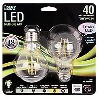 Feit a1940/ CL / LED / 2450ルーメン2700K非調光LED–2- Pack–クリア