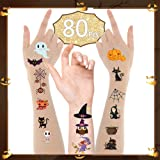 Halloween Temporary Tattoos for Kids, Convolum Halloween Decorations Cartoon Theme Tattoos Stickers for Children Boys Girls K