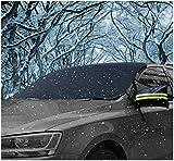 車 凍結防止カバー サンシェード,AUPERTO 車 日除け フロントガラス 凍結防止 積雪対策 夏冬兼用 車種汎用148*80cm