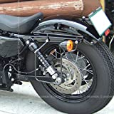 デグナー(DEGNER) スライドレール一体型 サドルバッグサポート ハーレー バイク スポーツスター 専用 04年~16年 左側 ブラック SBS-1 BK