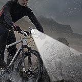 *耐震設計* 防水充電式LED自転車ライト,Constefire サイクルヘッドライト ・超高輝度米国 5X CREE XM-L T6 自転車前照灯 ヘッドライト2in1機能付 Max,7000ルーメン 強/弱/ フラッシュ3モード 航空アルミ合金材質 & &ミニ懐中電灯 LEDキーライト,防水 夜釣り/防災/登山/キャンプ/登山/夜間活動 画像